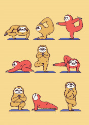 sloth yoga fitness