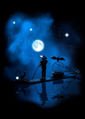 paradise china chinese japan japanese artistic thailand fish fishing landscape traveling galaxy stars night birds mountains