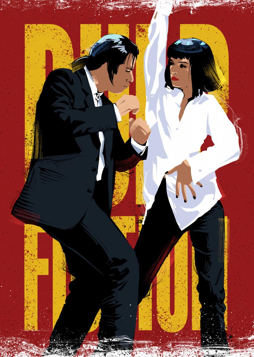 PULP FICTION Minimalist Movie Poster Print Posteritty Tarantino ...