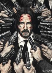 johnwick john wick inkedikons inked ikons keanu reeves action guns