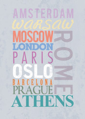 cities countries text vintage