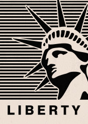 liberty vintage text quote