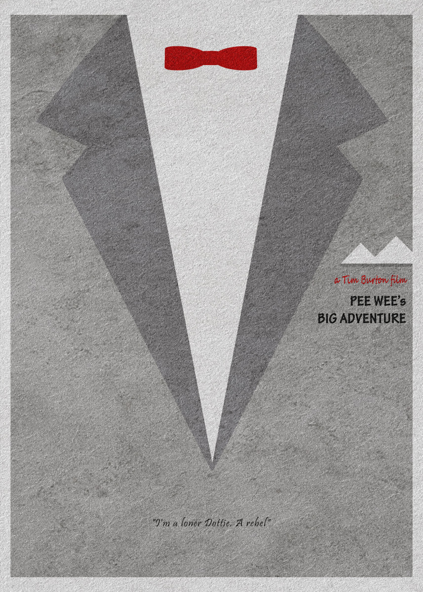 Pee-wee's Big Adventure Minimalist Movie Poster 477717