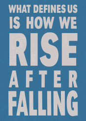 rise fall quote text vintage