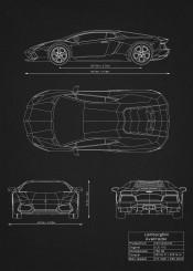 lamborghini aventador car cars supercar racing need speed black white diagram blueprint schematic design