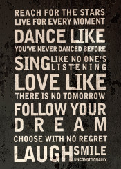 text stars dance dreams quote