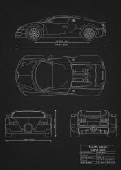bugatti veyron car supercar racing need speed cars blueprint schematic black white diagram patent