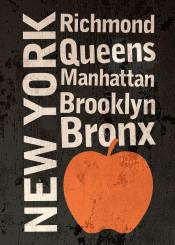 new york text vintage