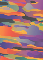 graphic abstract fluid clouds colorful gradients camo fantasy sky surreal shapes bubbles float liquid psychedelic glow dream