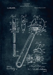 337 1915 wrench tool peterson inventor patent patents blue print patentart legendary engineer engineering