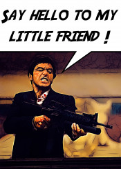 scarface little friend hello pacino