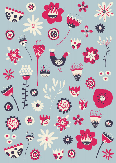 Nic Squirrell Flowers and plants   Displate Prints on Steel