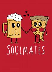 beer pizza food love soulmates tandem original