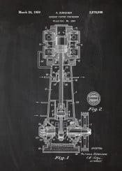 piston compressor patent drawing car cars truck blackboard blackprint engine parts blueprint vintage motor motorbike biker motorcycle
