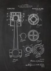 ball joint piston connetcting rod patent drawing car engine cars parts truck motorbike motor motorcycle bike vintage blueprint blackprint blackboard auto automobile