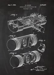engine piston pump double acting car patent drawing blackboard blueprint blackprint cars truck motorcycle bike motor motorbike vintage