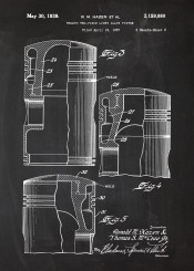 engine piston v alloy drawing patent car cars truck blackboard blueprint blackprint vintage motorbike motorcycle biker bike mechanic workshop