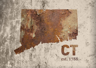 Design Turnpike Rusty United States Maps   Displate Prints on Steel