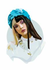 melanie martinez music cry baby blue portrait face hair singer