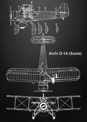 aichi susie plane black white warplane military