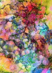 abstract painting ink alcohol colorful multicolor joyful