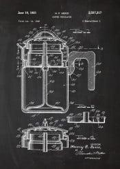 cafe coffee percolator cafeteria dring hot cup mocca americano macchiato latte blackboard blueprint vintage blackprint