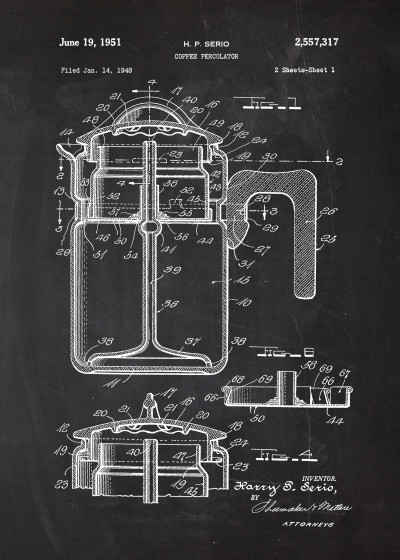 Marcin  CAFE Patent Drawing   Displate Prints on Steel