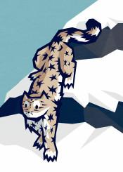 snow winter cold cat leopard ice animal