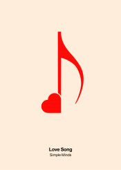 love song heart simple minds minimal pictogram note tone