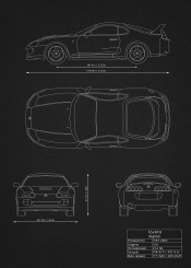 Supercars blueprints by rockstone displate toyota supra fast furious car super racing wrc blueprint design patent malvernweather Image collections