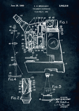 Medical patents by popculart displate 364 1955 toolmaker microscope vintage legendary patent patents patentart medical medicine lab laboratory blue print inventor malvernweather Gallery