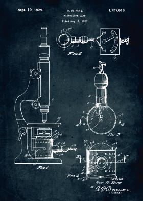Medical patents by popculart displate 360 1927 microscope lamp patent patents patentart vintage blue print legendary medical medicine lab laboratory malvernweather Gallery
