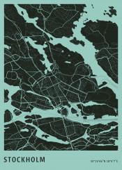 map maps plan stockholm citymap city europe office minimalistic minimal monochromatic green simple