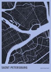 map maps petersburg russia plan aerial citymap