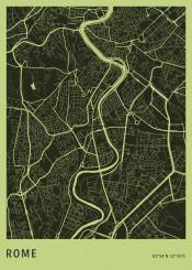 citymap maps map plan rome roma italia italy office aerial minimalistic minimal