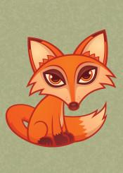 animal canine cartoon cute fox mammal red vulpine