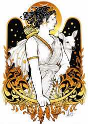 artemis diana goddess golden deer mythology greek diosa roman