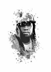50cent curtis jackson rap hiphop splatter
