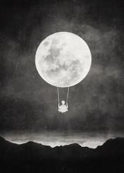 surreal surrealism digital digitalart design graphicdesign illustration vintage moon textures night monochrome blackandwhite