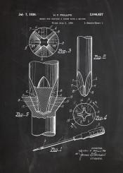 screwdriver screw tool tools unit blackboard blueprint vintage work workshop drill wall building patent