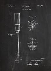 screwdriver screw driver mechanic workshop tool tools blackboard blueprint patent drawing vintage building
