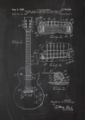 electric guitar patent drawing music sound musical instrument vintage blackboard blueprint concert bass fender