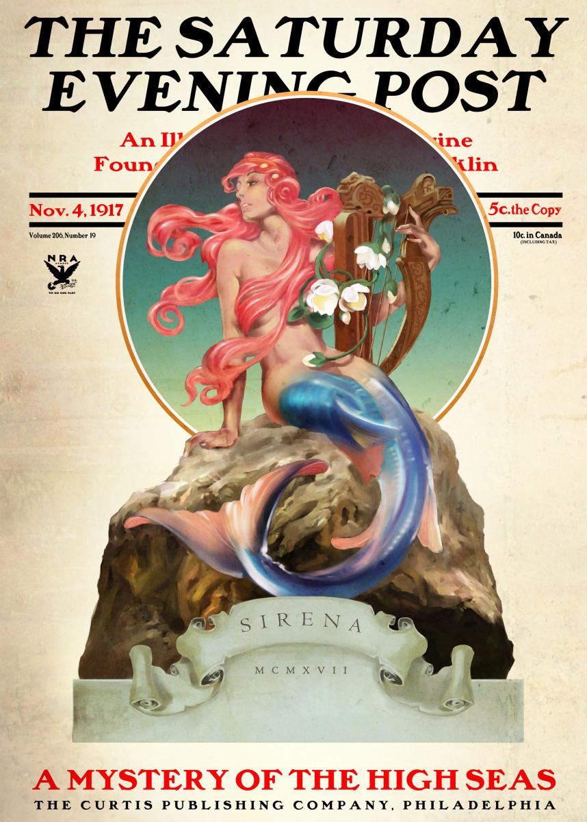 Classic Vintage Mermaid Magazine Cover 541068