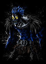 note death dead anime manga ryuk terror horror demon splatter stain halloween