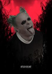 keith flint prodigy music singer green rock legend legends red fire smoke guitar