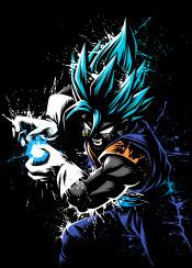 anime manga super power kame goku splatter stain dark shadow