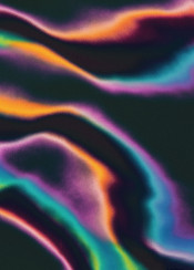 painting digital abstract lines curves waves colorful dark contrast positive spring summer