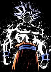 migatte power anime manga tournament warrior battle dragon ball splatter stain ultra instinct