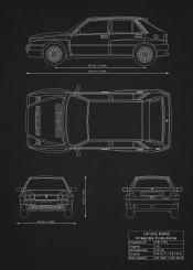 lancia delta integrale evoluzione supercar racing car super blueprint patent design