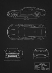 chevrolet camaro ss car supercar super blueprint design schematic